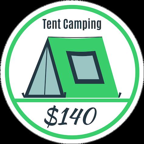 tent camping - oregon jamboree